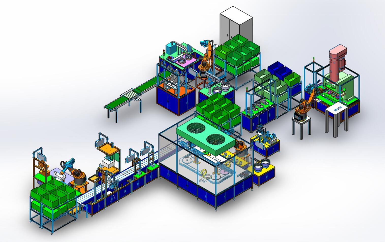 电机混合自动装配柔性生产线
